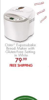 Oster® Expressbake Bread Maker with Gluten-Free Setting in White 79.99 FREE SHIPPING