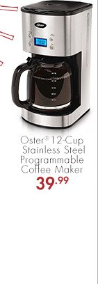 Oster® 12-Cup Stainless Steel Programmable Coffee Maker 39.99