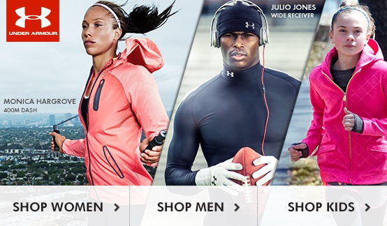Under Armour starts now - kids, women and men