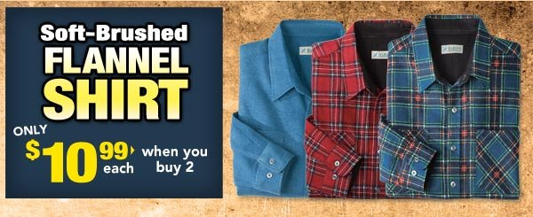 Soft Brushed Flannel Shirts