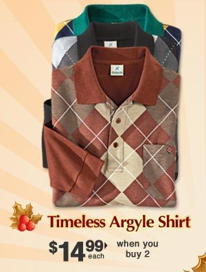 Timeless Argyle Shirt