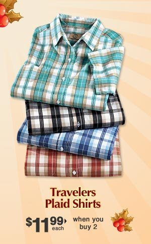 Travelers Plaid Shirts