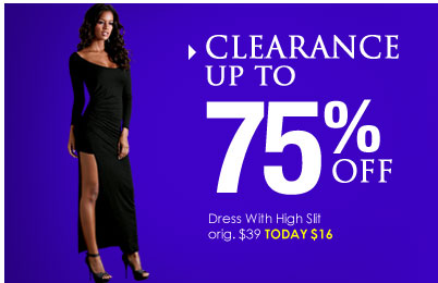 Shop CLEARANCE - up to 75% OFF
