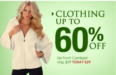 Shop CLOTHING SALE - up to 60% OFF