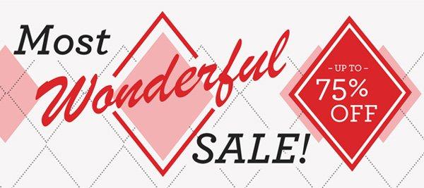 The Most Wonderful Sale