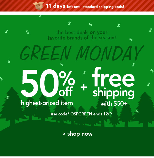 Shop Green Monday!