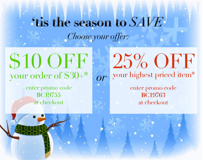 'tis the season to SAVE choose your offer