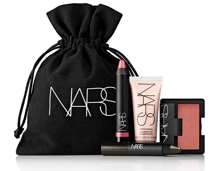'Tis the season and NARS is celebrating with an iconic set: four sleek minis in a black velvet pouch.