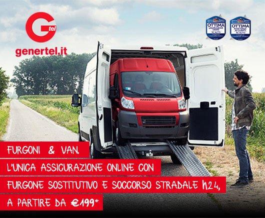Furgoni & Van. L'unica assicurazione online con furgone sostitutivo e soccorso stradale h24, a partire da €199*