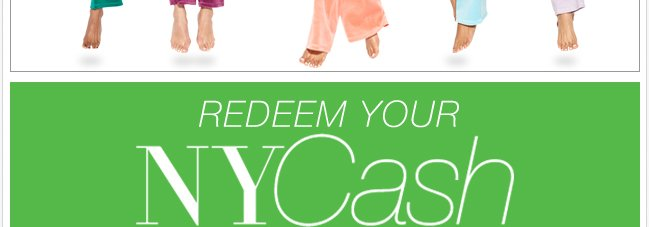Redeem NYCash Now Through 12/12 In Stores!