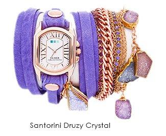 Santorini Druzy Crystal Wrap Watch