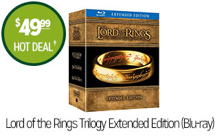 Lord Of The Rings Trilogy Extended Edition (Blu-ray) - $49.99 - HOT DEAL‡