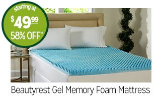 Beautyrest Gel Memory Foam Mattress - starting at $49.99 - 58% off‡
