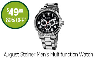 August Steiner Men's Multifunction Watch - $49.99 - 89% off‡