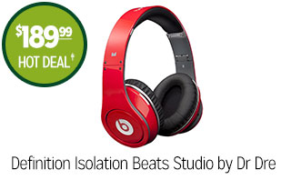 Definition Isolation Beats Studio by Dr Dre - $189.99 - HOT DEAL‡