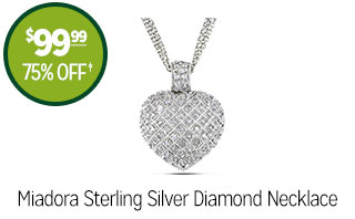 Miadora Sterling Silver Diamond Necklace - $99.99 - 75% off‡