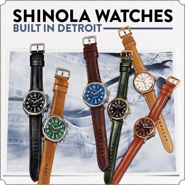 SHINOLA WATCHES - BUILT IN DETROIT