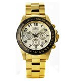 Invicta 10703 Men's Speedway Gold Plated Stainless Steel Gold Dial Chronograph Dive Watch