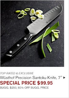 "TOP-RATED & EXCLUSIVE - Wüsthof Precision Santoku Knife, 7"" - SPECIAL PRICE $99.95 SUGG. $250, 60% OFF SUGG. PRICE"