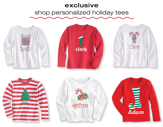 shop personalized holiday tees