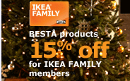 BESTÅ products 15% off for IKEA FAMILY members