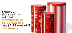 SNÖKUL storage tins with lid | member price $3.99/set of 3