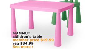 MAMMUT children's table | member price $19.99