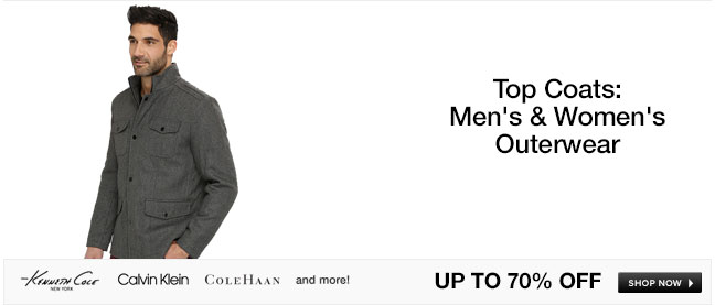 Top Coats: Mens and Womens Outerwear