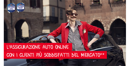 L'assicurazione auto online che ti offre uno sconto fino al 15%.