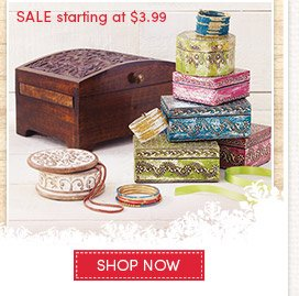 Jewelry Boxes Sale starting at $3.99