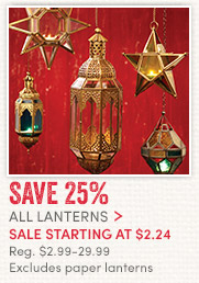 All Lanterns sale starting at $2.24. Reg. $2.99-$29.99