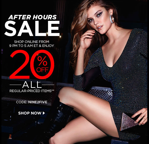 After Hours SALE - 20% Off