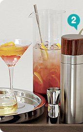 2. brushed stainless steel and wood  cocktail shaker 15.96 reg 19.95