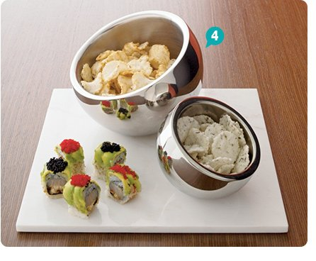 4. stainless steel snack bowls 8.76-15.96  reg 10.95-19.95