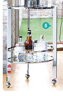 5. ernest chrome bar cart 143.20 reg 179.