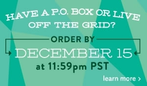 live off the grid? order by dec. 15