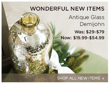 Wonderful New Items: Antique Glass Demijohn