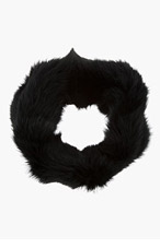 MARNI EDITION Black Fox Fur Snood for women