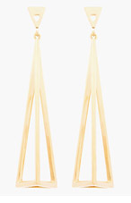 CHLOE Gold Bianca Triangular prism Pendent Earrings for women