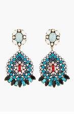 DANNIJO Blue Crystal & Turquoise Siobhan Earrings for women