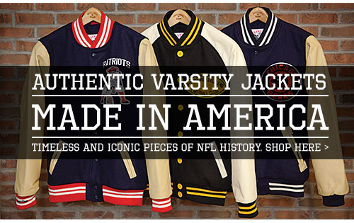Authentic Varsity Jackets - Made in America - Timeless and Iconic pieces of NFL History - Shop Now
