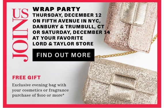 Join Us. Wrap Party Thursday, December 12. Find Out More.