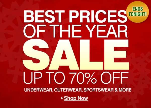 Best Prices of the Year Sale - Up to 70% Off - Shop Now