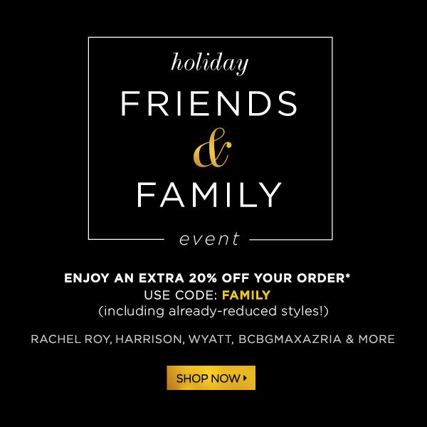 Holiday Friends and Family