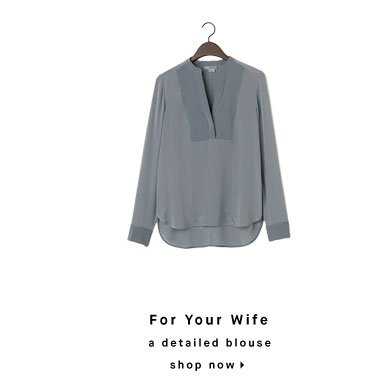 For Your Wife: a detailed blouse - shop now