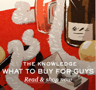 The Knowledge: What To Buy For Guys. Read & shop now