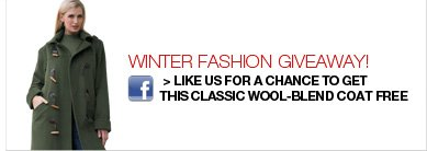 Like Us for a Chance to Get this Classic Wool-Blend Coat Free