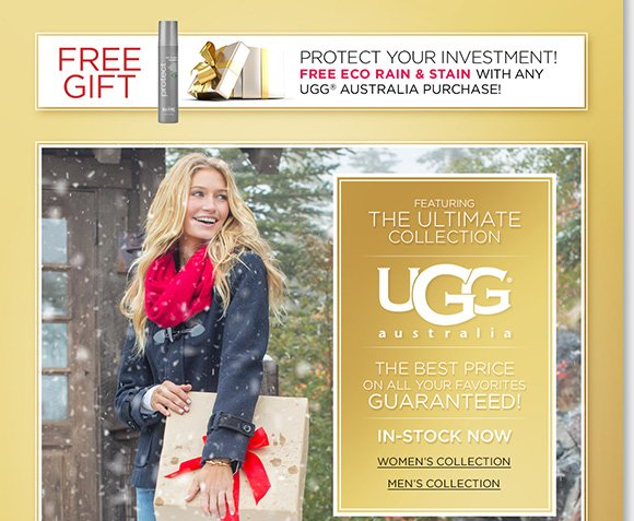 Enjoy a FREE Eco Rain & Stain w/ any UGG® Australia purchase from the ultimate UGG® collection!* Plus, now through Friday, enjoy a FREE Cozy Blanket with any $150 or more purchase!** We have great comfort gifts from Dansko, ECCO, ABEO, Raffini and more! Shop now to find the best selection at The Walking Company.