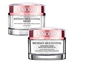 LANCOME | BIENFAIT MULTI-VITAL NIGHT | BIENFAIT MULTI-VITAL SUNSCREEN CREAM