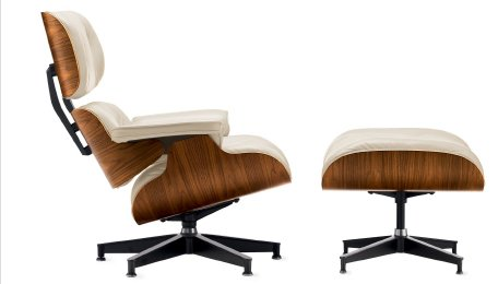 EAMES® LOUNGE AND OTTOMAN | IN STOCK